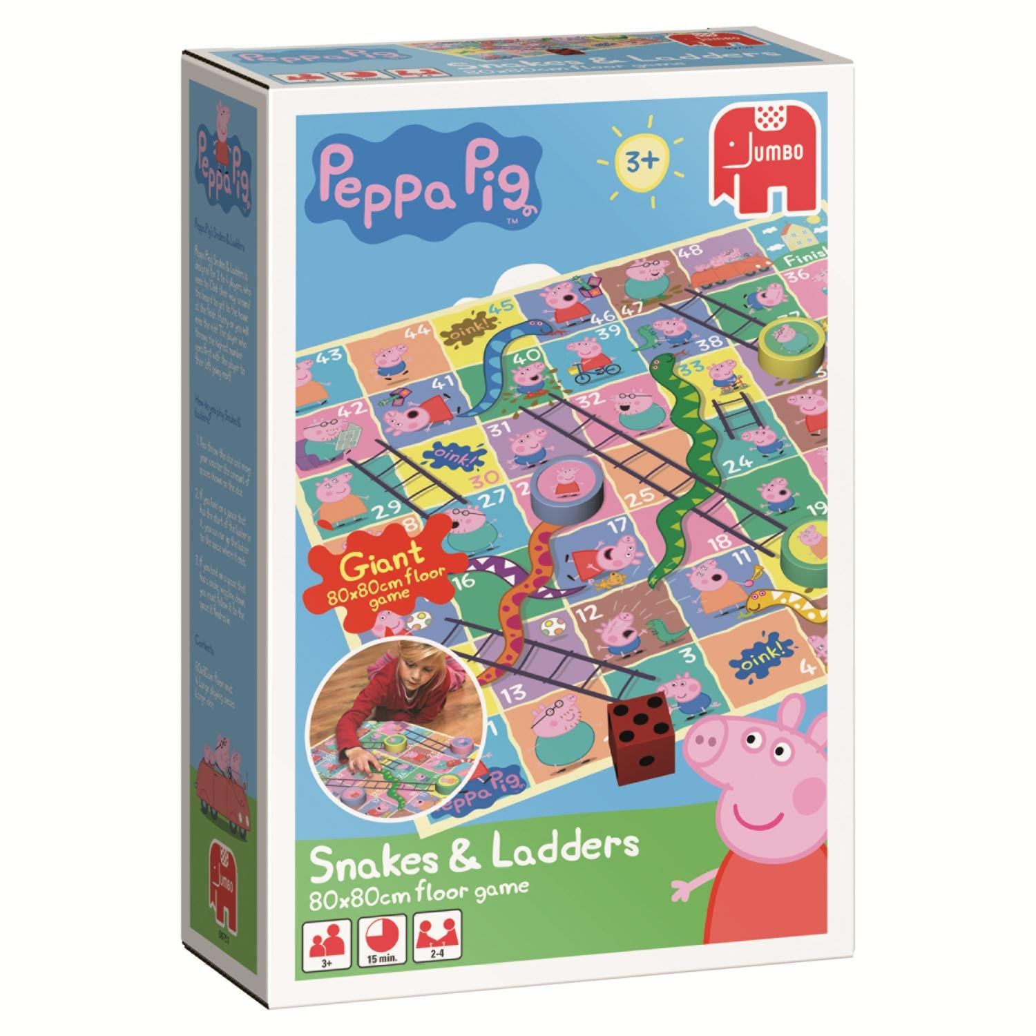 Peppa Pig Snakes and Ladders Bodenspiel (englische Version) Jumbo 00751