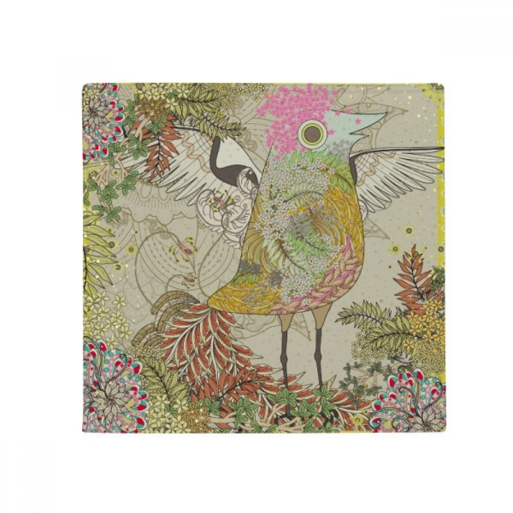 DIYthinker Flower Bird Wing Ukiyo-E Japan Anti-Slip Floor Pet Mat Square Home Kitchen Door 80Cm Gift