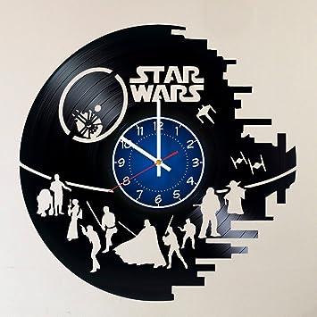Amazon.com: Star Wars - Reloj de pared de vinilo hecho a ...