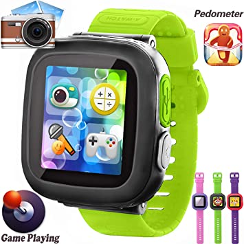 Kids Game Watch, [AR Pro Edition] Boys and Girls Touch Screen Smart Watches with Games Pedometer Camera Alarm Clock Smartwatch Wrist Band Kids ...
