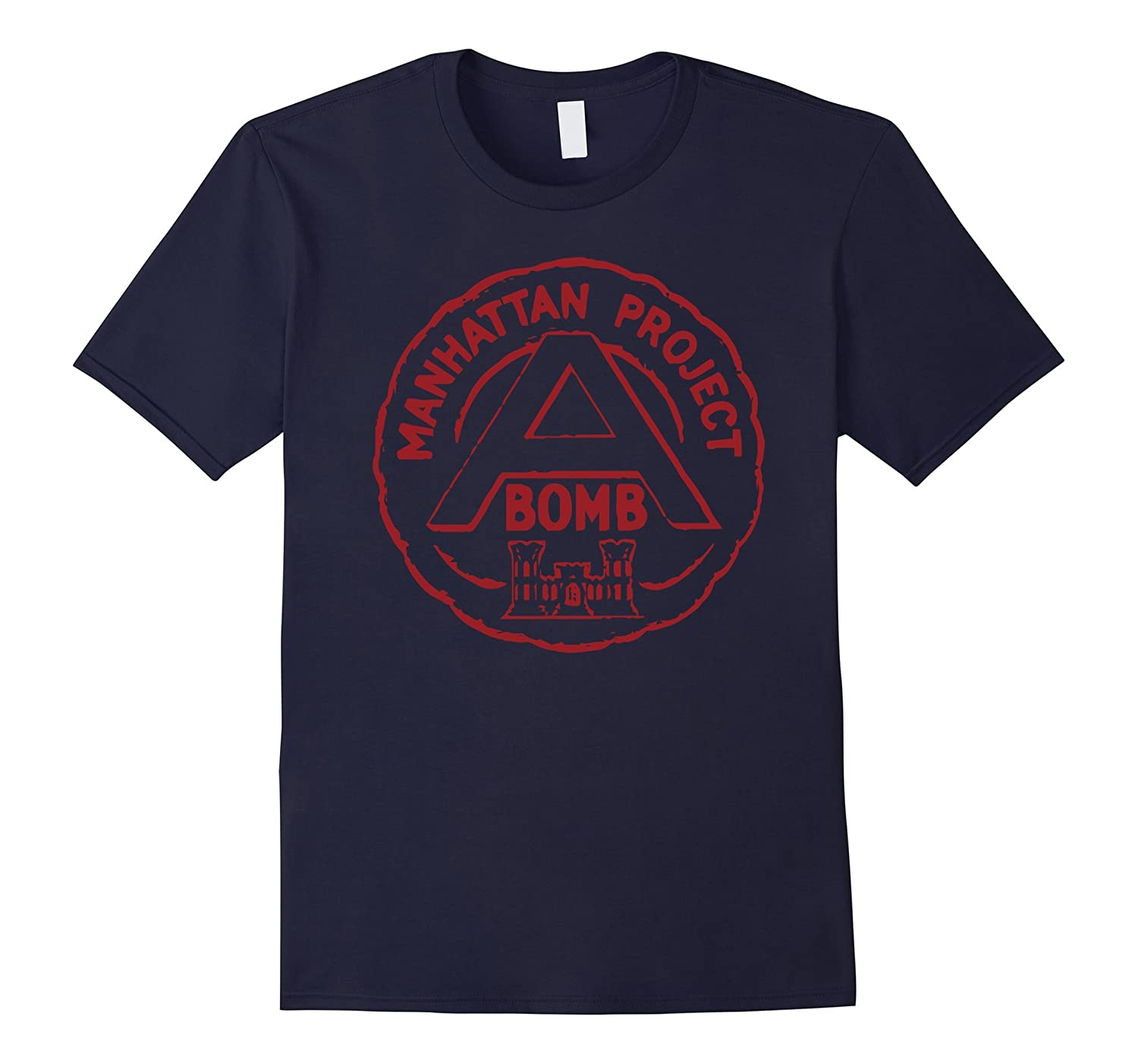 Atomic Bomb Manhattan Project T-Shirt Red Print-FL