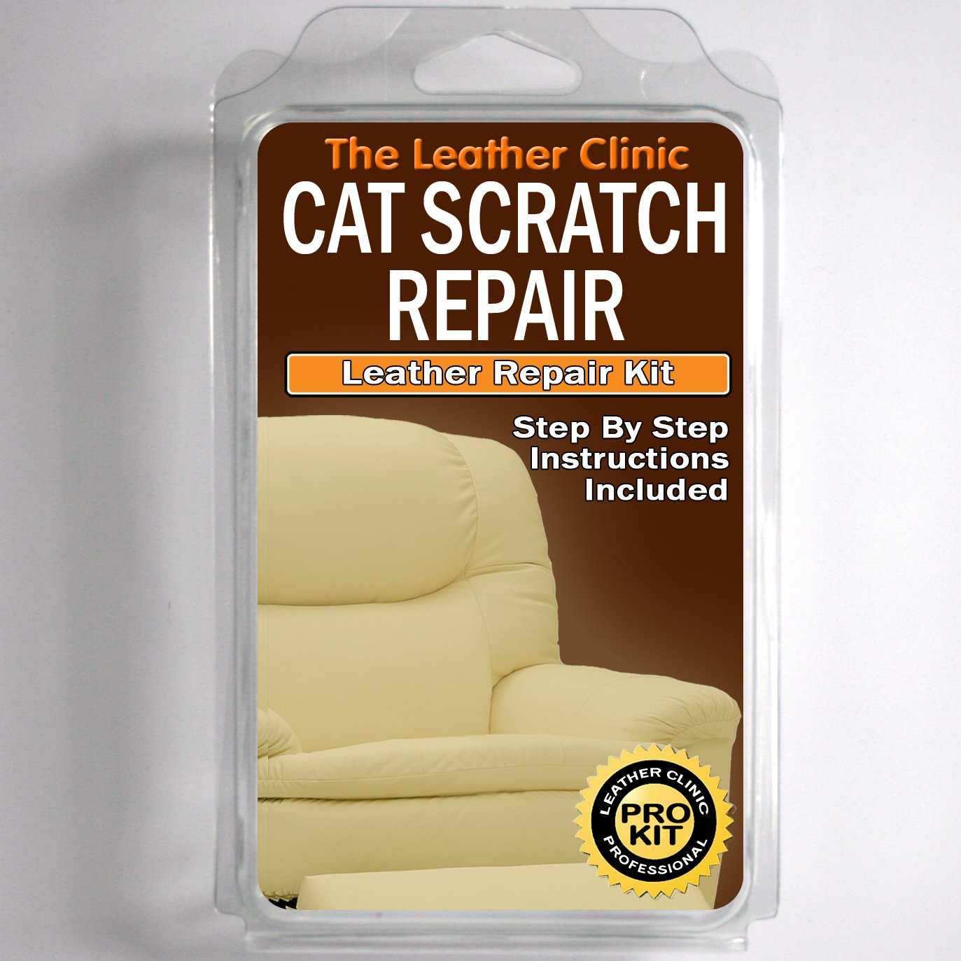 Amazon.com: Leather CAT SCRATCH Repair Kit. Easy To Use. Complete With  Filler U0026 Colour. (Ivory) By The Leather Clinic: Appliances