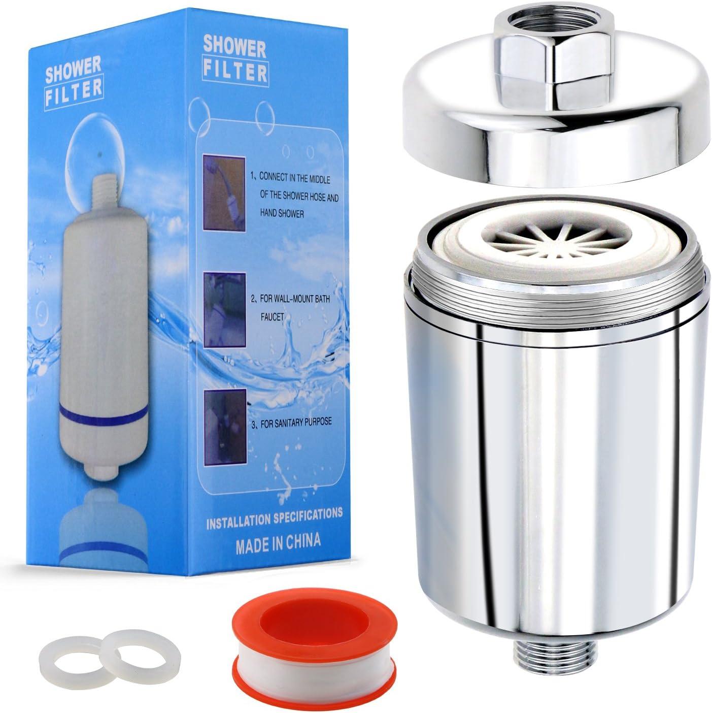Onme ducha filtro, filtro de agua ducha Universal con 5 paso ...