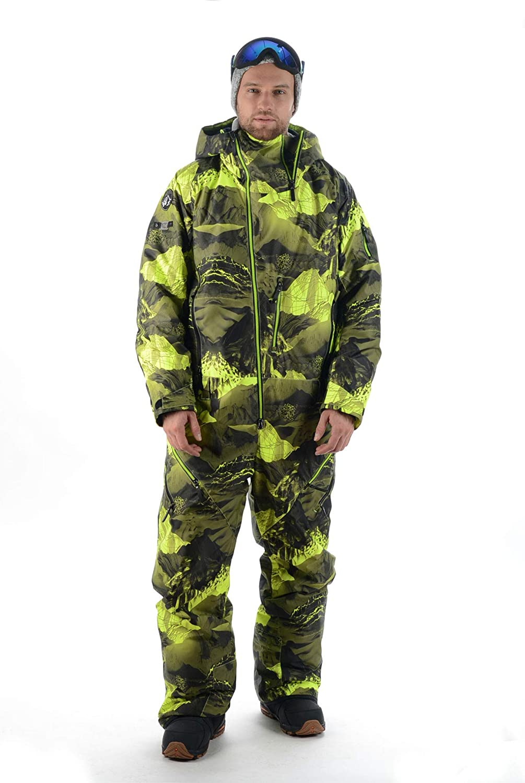 Stayer Snowboard-Jumpsuit Unisex Herren Damen Freeride Skianzug Schneeanzug Winteranzug Winter-Overall Wasserdicht Camouflage Grün