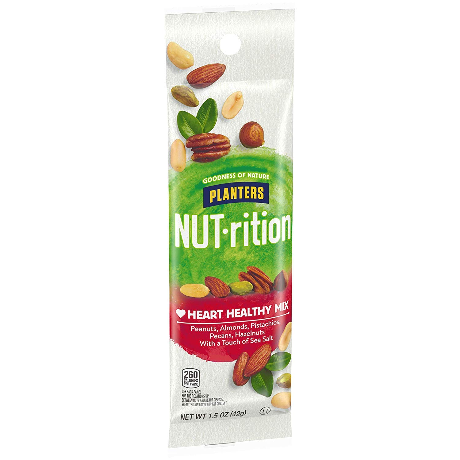 NUTrition Heart Healthy Nut Mix (1.5 oz Bags, Pack of 18) by Planters (Image #7)