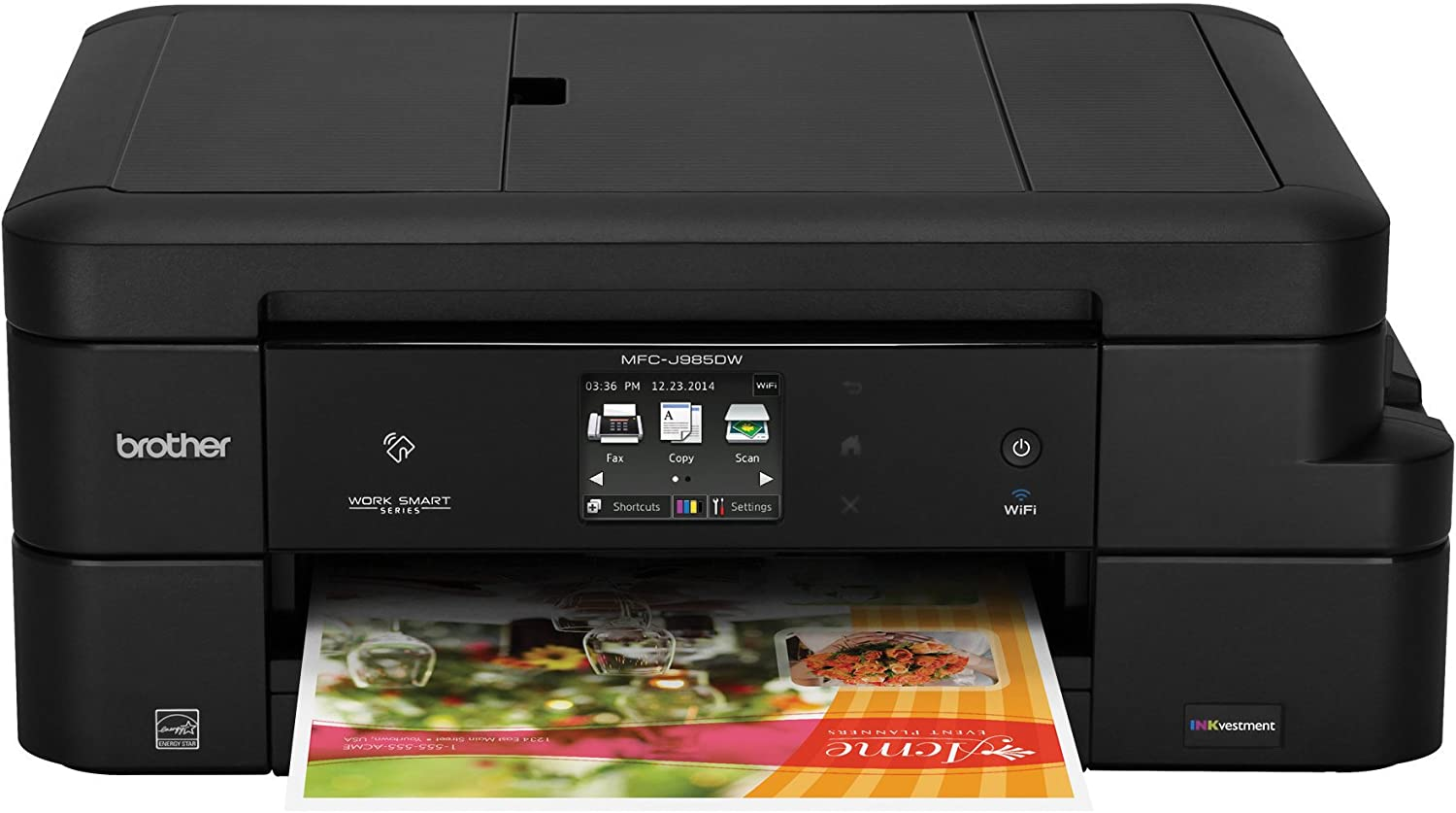 Brother Inkjet Printer, MFC-J985DW, Duplex Printing, Wireless Connectivity, Cost-Effective Color Printer, Business Capable Features, Amazon Dash ...