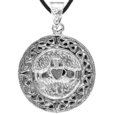 Amazon claddagh pendant claddagh necklace jewelry claddagh pendant aloadofball Image collections