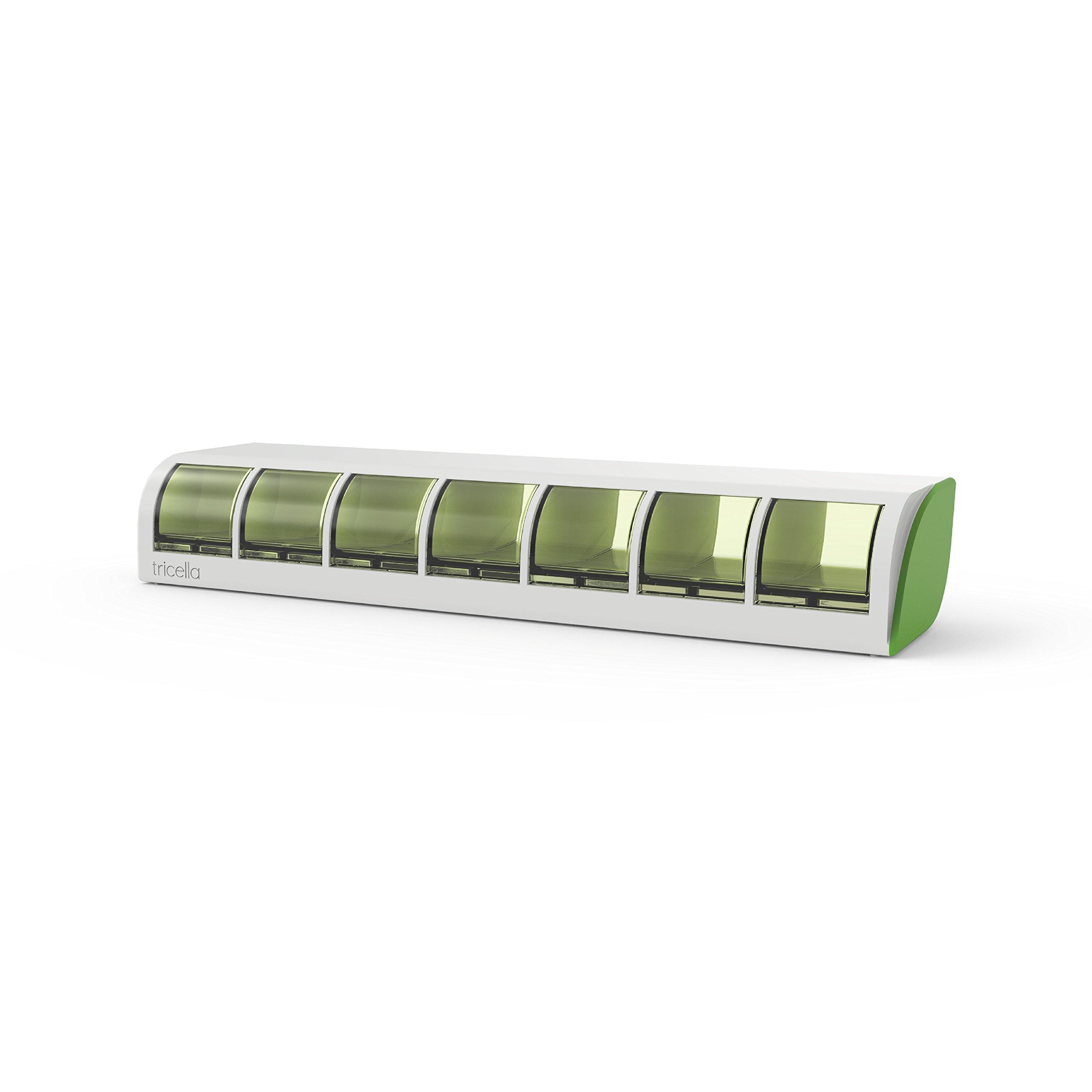Tricella Liif 7 Green Smart Pillbox, Green