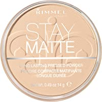 Rimmel London Stay Matte Pressed Powder, Shine Control Formula with Mineral Setting, Transparent, 14 g