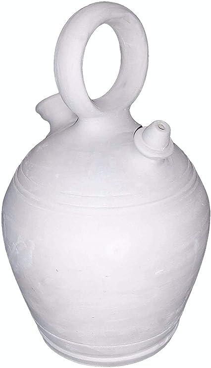 Botijo 3.25 litros Artesanal 100%,Hecho en España Dispensador de Agua fría Porron de Arcilla Blanca,Sal,Barro: Amazon.es: Hogar