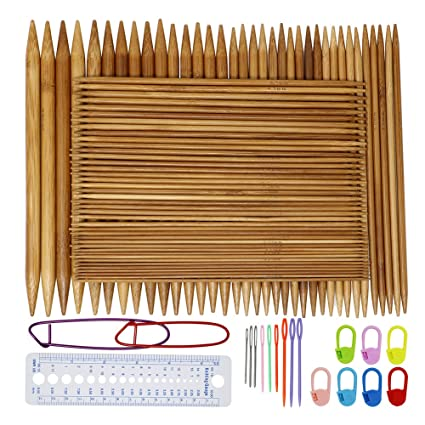 Amazon Onshine Knitting Needles Set 75pcs 8 Inch Length Bamboo