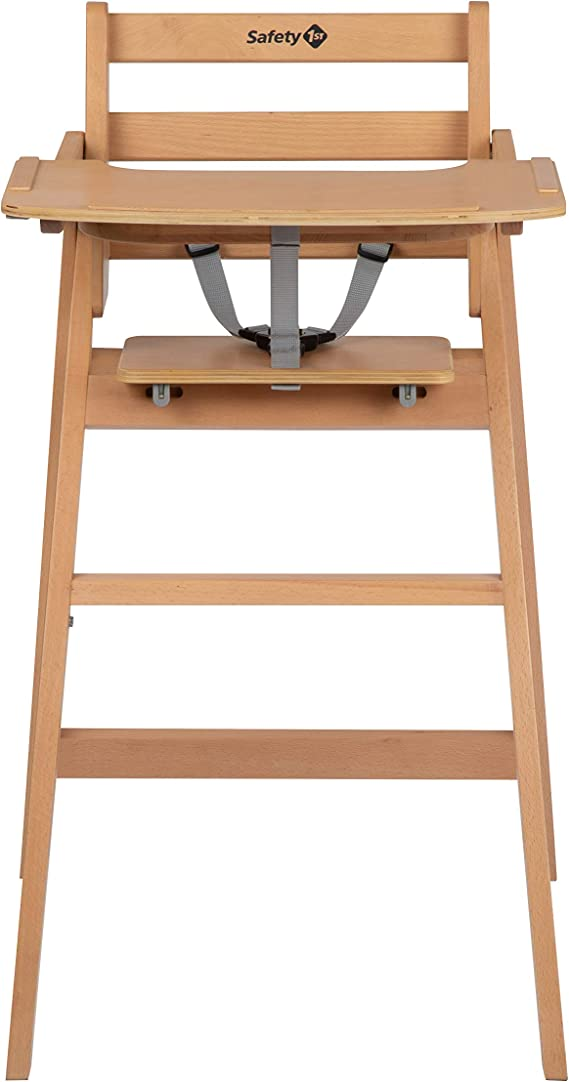 Safety 1st Nordik Chaise haute en bois de hêtre, avec