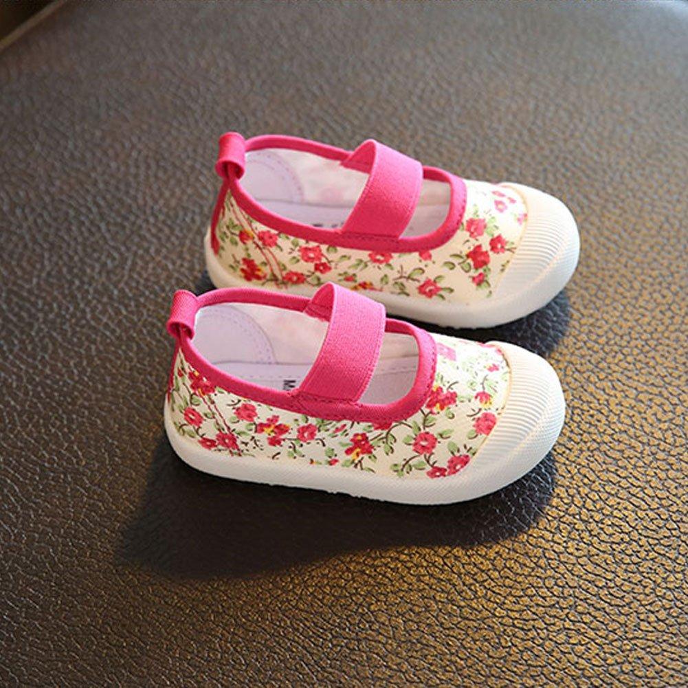 ARISONBELAE Spring//Summer//Autumn Girls Shoe Toddler//Little Kid Casual Canvas Flats Shoes