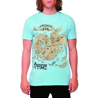 Adventure Time Map Of Ooo Herren Blau T-Shirt | L: Amazon.de ...