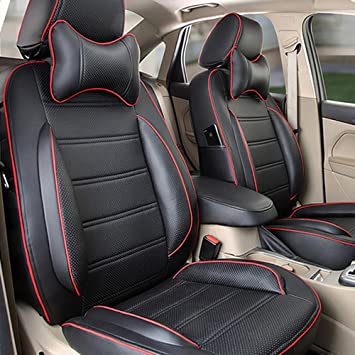 Auto Decorun Custom Fit Car Seat Cover Sets For Mitsubishi Outlander Lancer Pajero Sport ASX PU