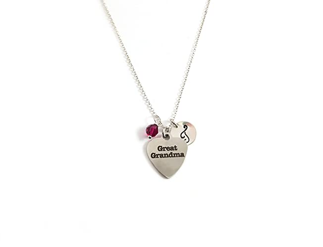 amazon com great grandma charm necklace personalized sterling
