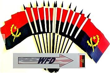"Angola 4/""x6/"" Flag Desk Table Stick"