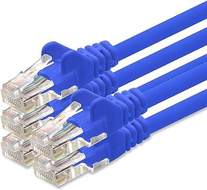 1aTTack 5 Unidades cat. 6 azul Cable de red UTP con conectores RJ45