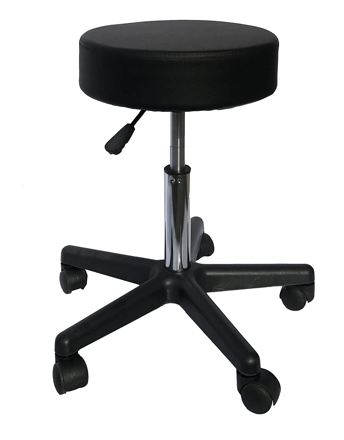 Deluxe Round Height Hydraulic Adjustable Rolling Stool, Great for Spa Facial Massage Tattoo Doctor Technician Office or Home use (Black) Angel Canada