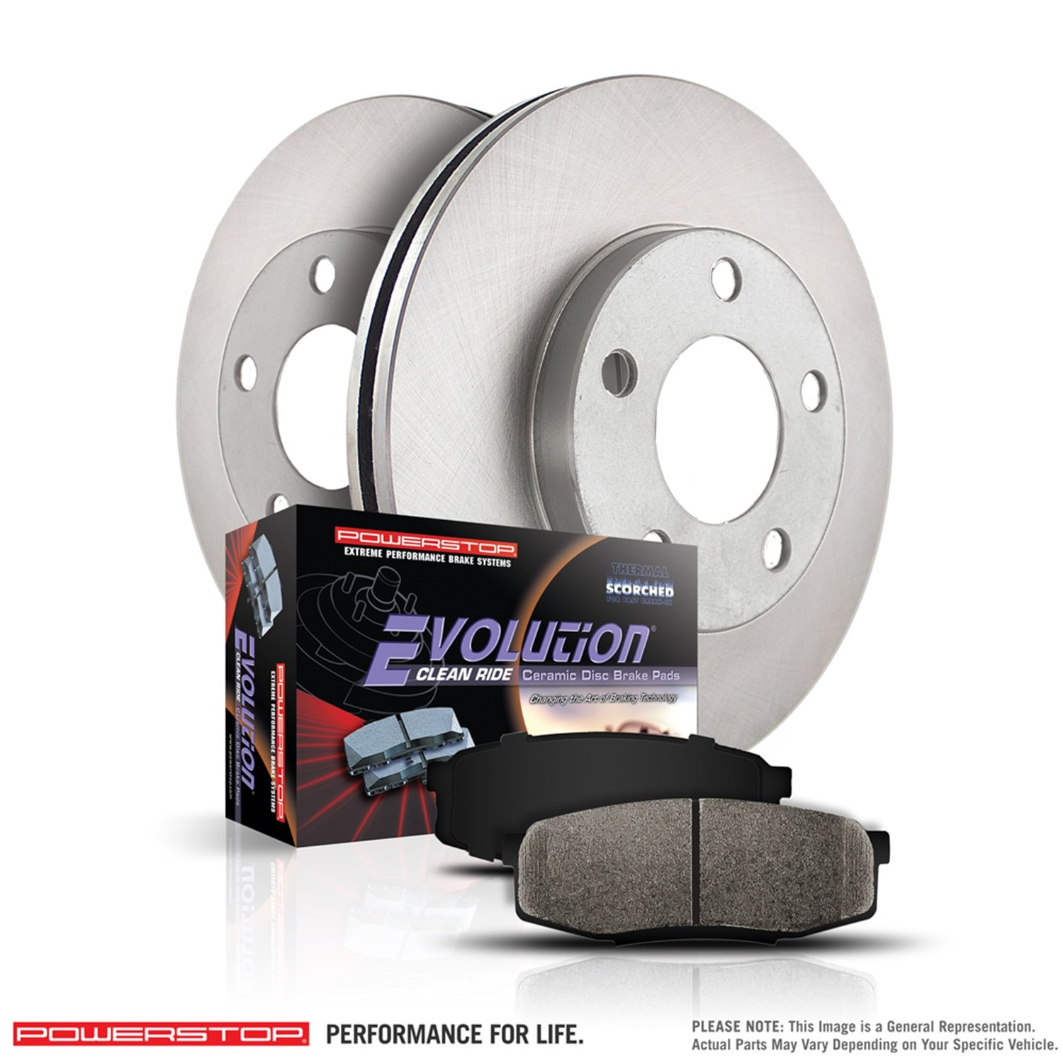 Power Stop KOE4595 Front Stock Replacement Brake Kit by Power Stop