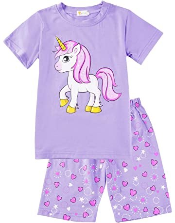 2 Pack Girls Top /& Long Bottoms Pyjamas Age 7-8 Years