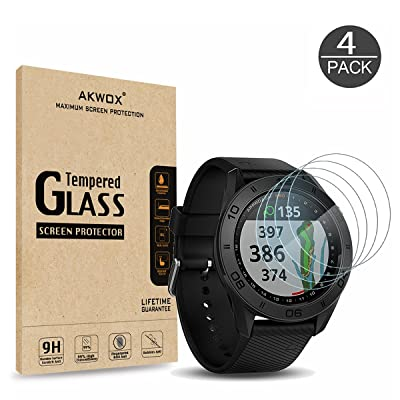 (Pack of 4) Tempered Glass Screen Protector for Garmin Approach S60, Akwox [0.3mm 2.5D High Definition 9H] Premium Clear Screen Protective Film for Garmin Approach S60: Computers & Accessories