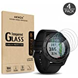 (Pack of 4) Tempered Glass Screen Protector for Garmin Approach S60, Akwox [0.3mm 2.5D High Definition 9H] Premium Clear Screen Protective Film for Garmin Approach S60