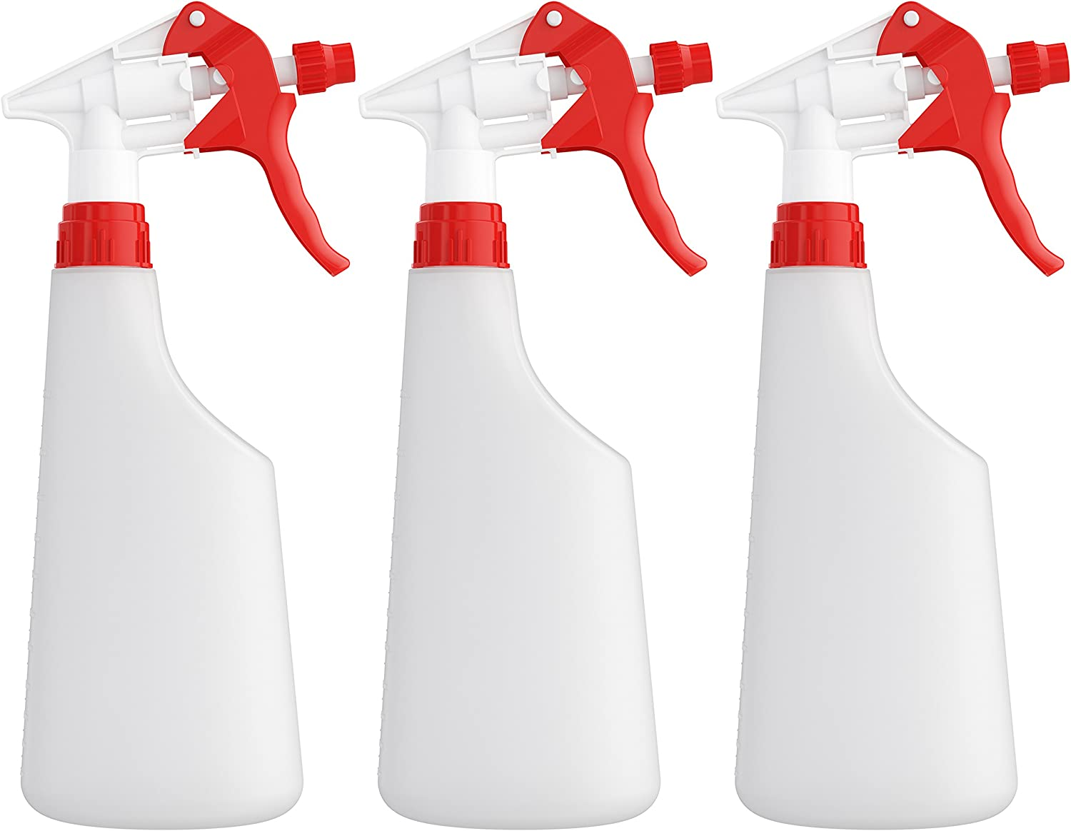Homestead Choice Plastic Spray Bottles 22oz Leak Proof with Commercial Grade Trigger Sprayer - 3 Pack: Garden & Outdoor