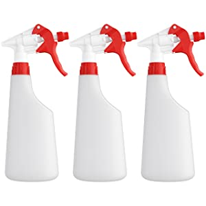 Homestead Choice Plastic Spray Bottles 22oz Leak Proof with Commercial Grade Trigger Sprayer - 3 Pack