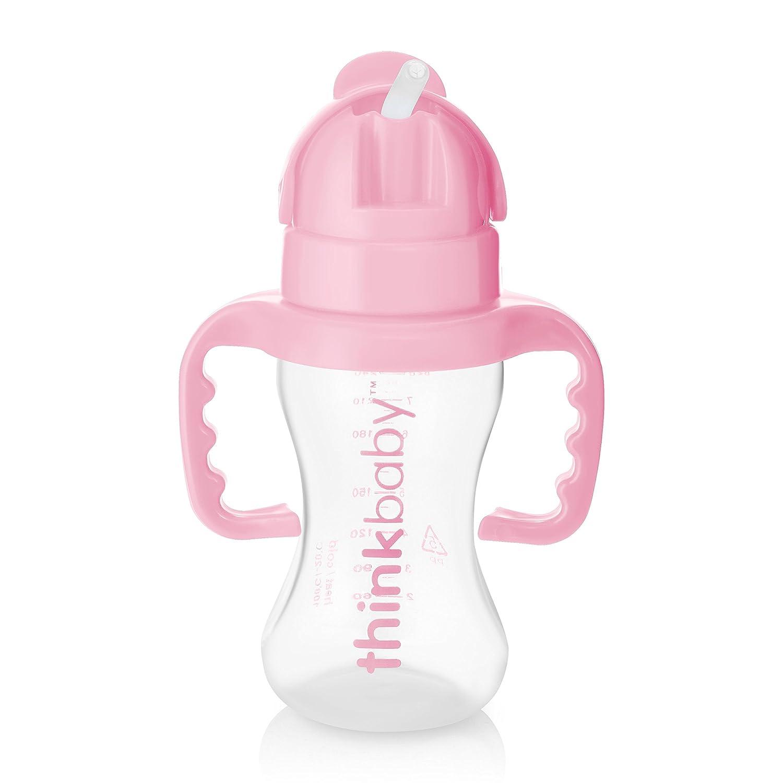 Botella de paja color rosa Thinkbaby Thinkster
