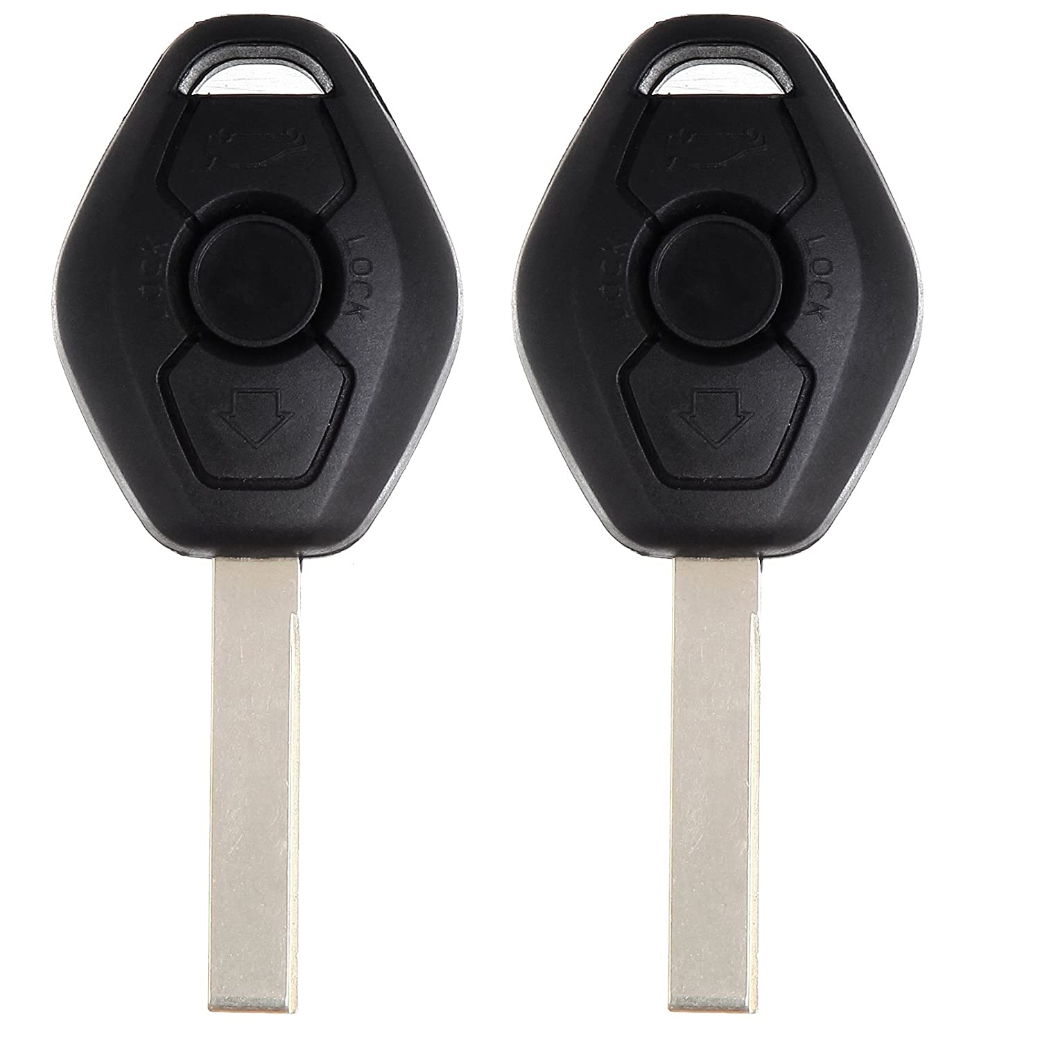 SCITOO Compatible with Replacement Key Key Fob fit BMW E38 E46 E60 E61 E36 E85 E86 E83 X3 3 Buttons Remote Key 315MHz 6955750