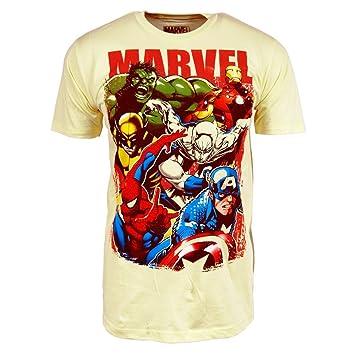 Marvel Comics - Camiseta de superhéroes de Marvel (talla M, 100% algodón), color blanco: Amazon.es: Deportes y aire libre