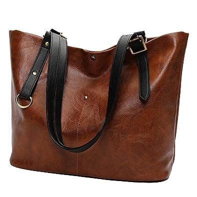 d689d2ec2944 Fashion Retro Soft Leather Shoulder Bag Tote Bag Ladies Bag Handbag  Backpack Silt Pocket Softback