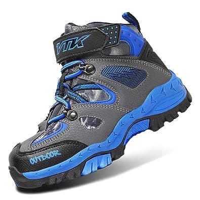 c2fcfb1313c Kids Hiking Boots Boys Girls Shoes Winter Snow Sneaker Outdoor Walking  Antiskid Steel Buckle Sole