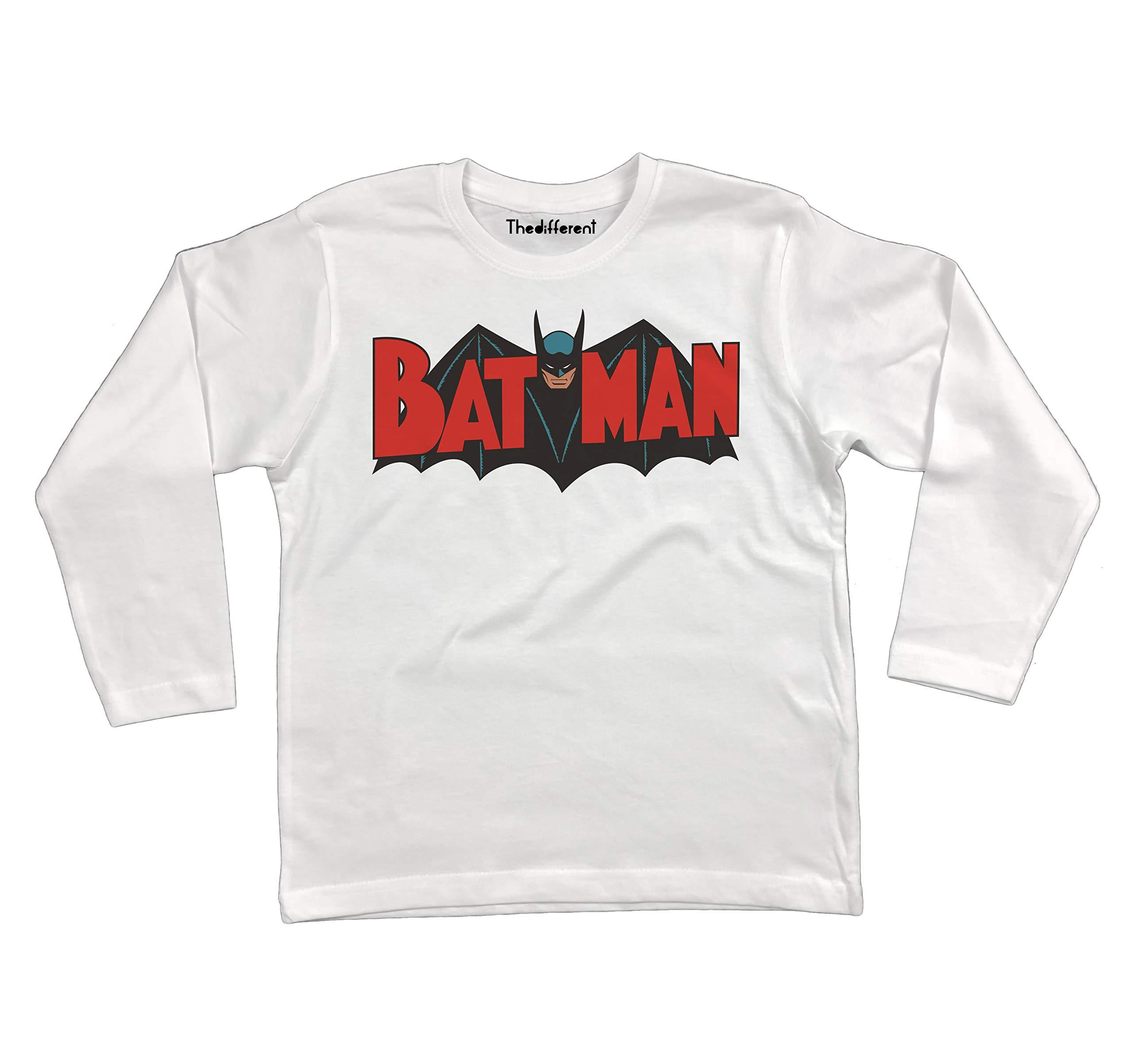 Bianco T-Shirt Manica Lunga Unisex Bambino Bambina Pungiball Rocky Balboa