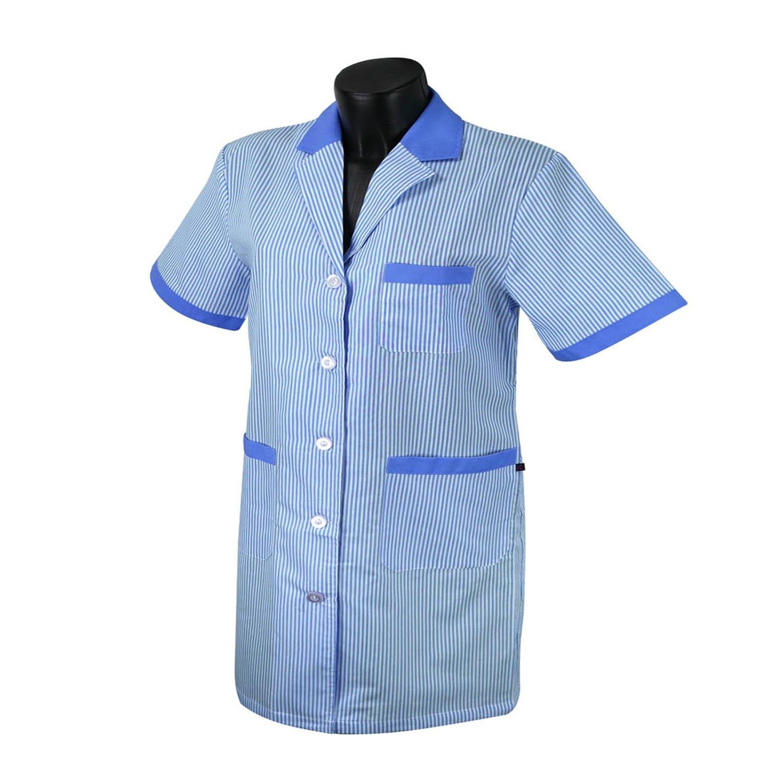 MISEMIYA - Bata Laboratorios Caballero Cuello Solapa con Manga Larga Uniforme Laboral CLINICA Hospital Limpieza Ref:816: Amazon.es: Ropa y accesorios