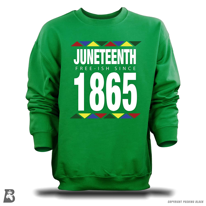 Pushing Black Juneteenth: Free-ish Since 1865 T-Shirts Tank Tops Kitchen Aprons Sweatshirts Hoodies and More