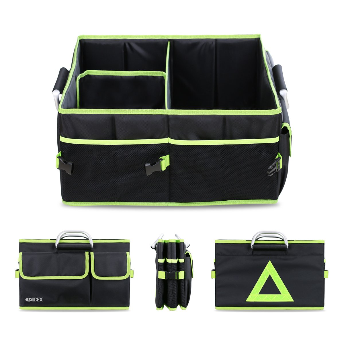 Car Trunk Organizer Foldable Storage Bag Tote Shopping Box Cooler And Tool For Groceries Tools Picnic Travel Motorbike