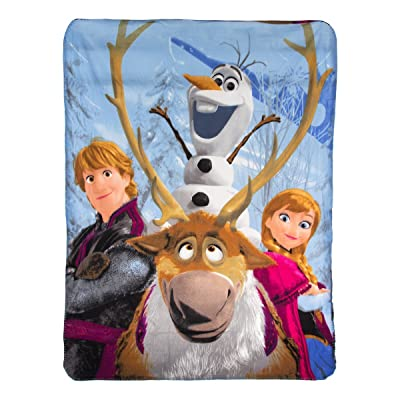 """Disney Frozen, """"Out in the Cold"""" Fleece Throw Blanket, 46"""" x 60"""", Multi Color, 1 Count: Home & Kitchen"""