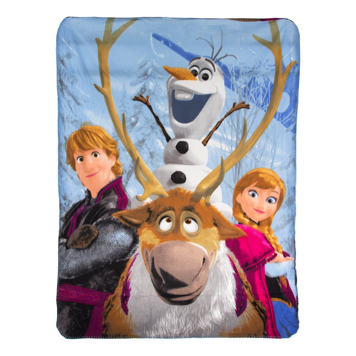 Disney's Frozen, ''Out in The Cold'' Fleece Throw Blanket, 46'' x 60'', Multi Color by Disney