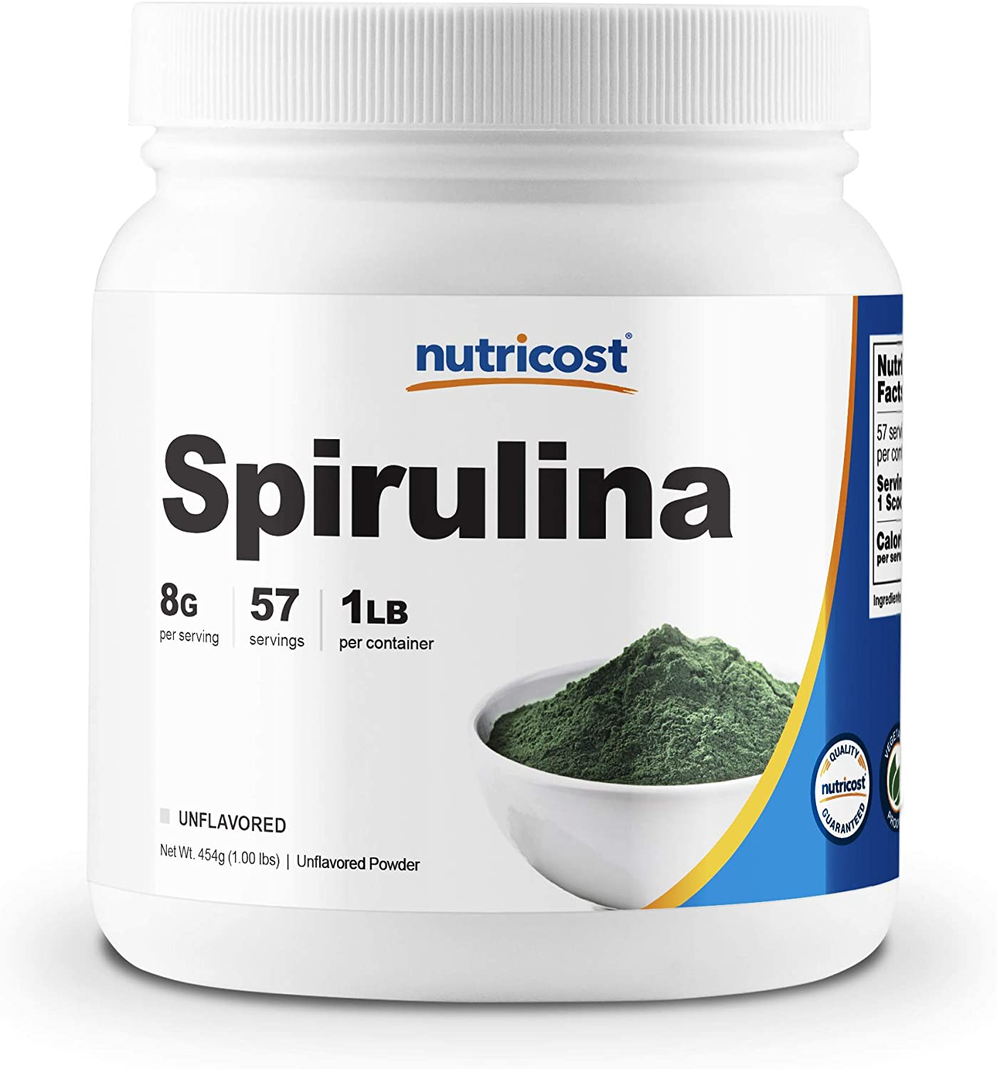 Nutricost Spirulina Powder 454 Grams (1LB) - 8000mg Per Serving, 57 Servings: Health & Personal Care