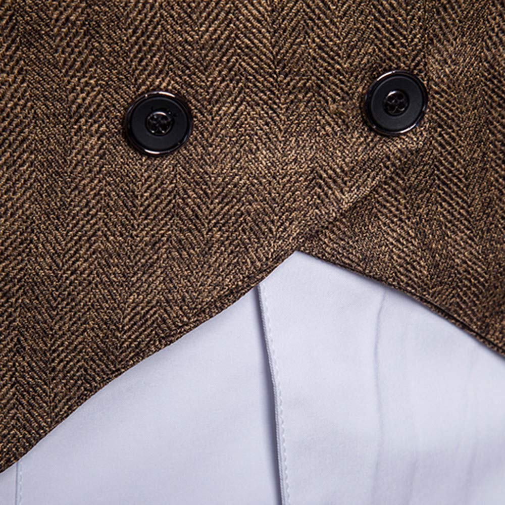 05d1629f16846 MODOQO Mens Formal Business Suit Vest Slim Fit Single Breasted Waistcoat  Big   Tall