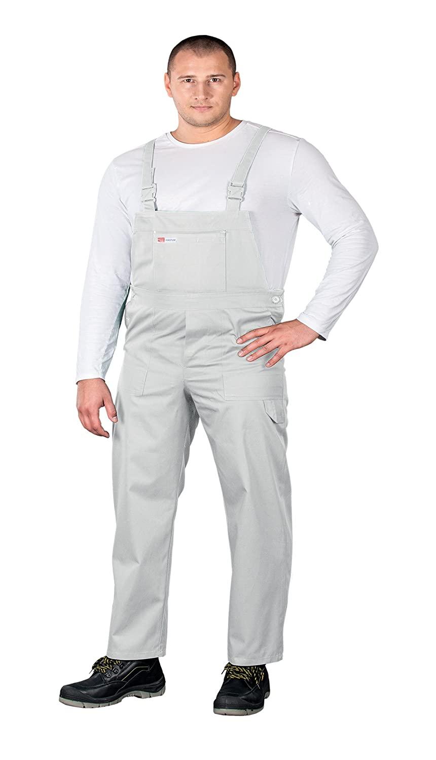 Bib and Brace Overalls Painters and Decorators Work Trousers Half Elastic Waist
