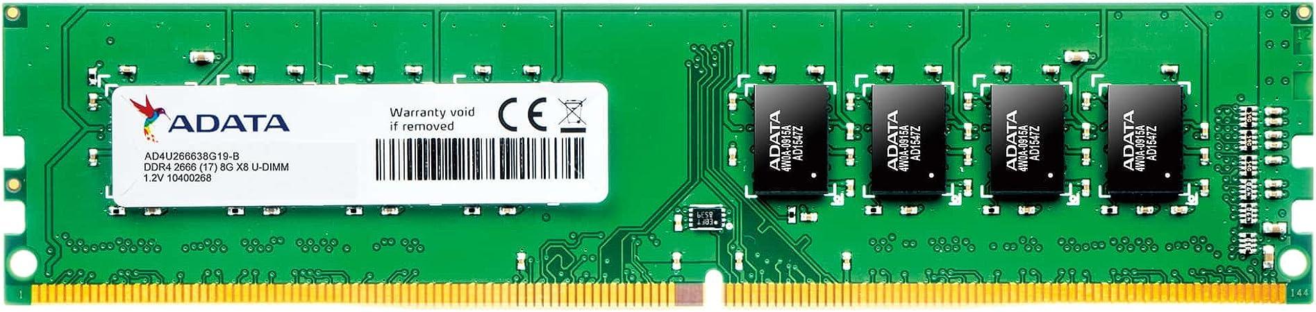 ADATA Premier 8GB DDR4 2666MHz Memory Module - Memory Modules (8 GB, 1 x 8  GB, DDR4, 2666 MHz, 288-pin DIMM) at Amazon.com