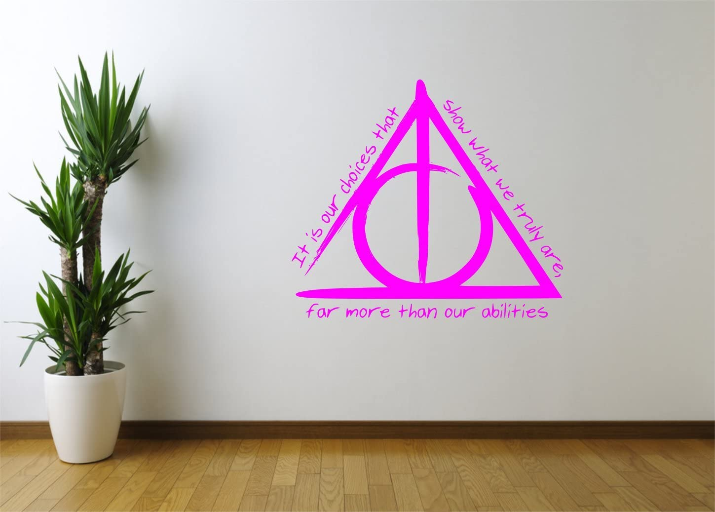 deathly hallows harry potter quote wall art sticker small cm