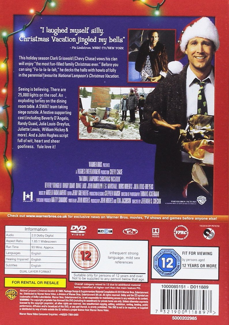 amazoncom national lampoons christmas vacation region 2 chevy chase beverly dangelo juliette lewis johnny galecki john randolph diane ladd - Christmas Vacation On Tv