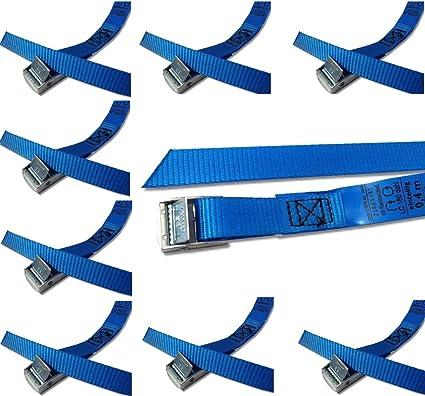 Iapyx Befestigungsriemen Set Ideal Zur Befestigung Am Fahrradträger Klemschloss Gurte Spanngurte 10er Set Blau Auto