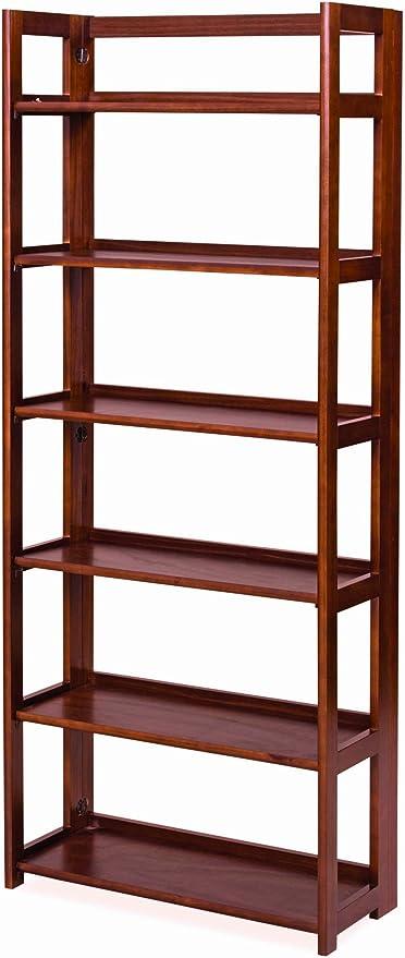 Estantería plegable madera 6 estantes mod. práctica, color ...