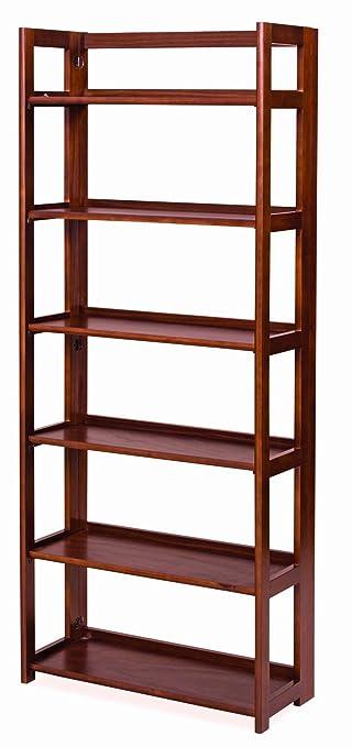 Scaffale libreria legno 6 ripiani richiudibile mod. PRATICA color ...