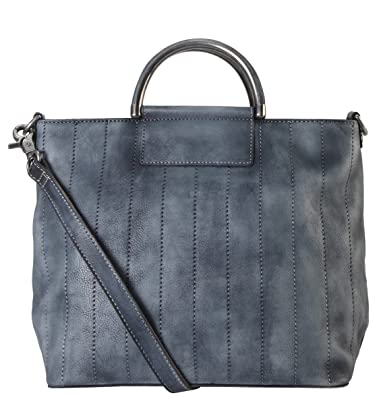 3cb6b0274ae7 Amazon.com: Diophy Genuine Leather Archaize Medium Top Handle Tote ...
